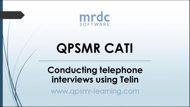 Conducting telephone interviews using Telin