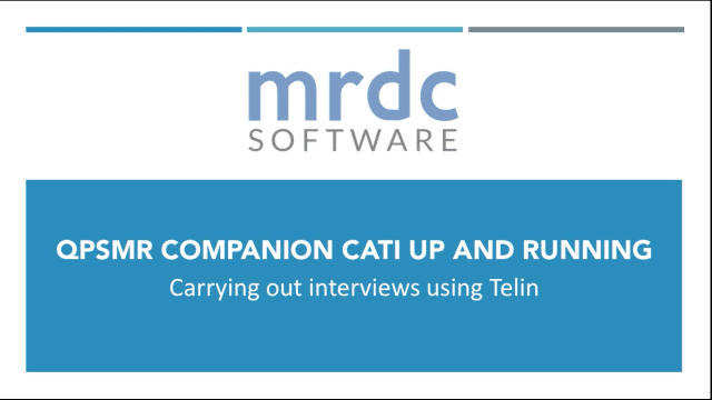 Carrying out interviews using telin