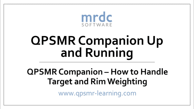 How to handle target and rim weighting