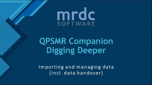 Importing and managing data incl data handover