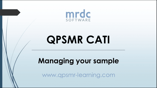Managing your sample