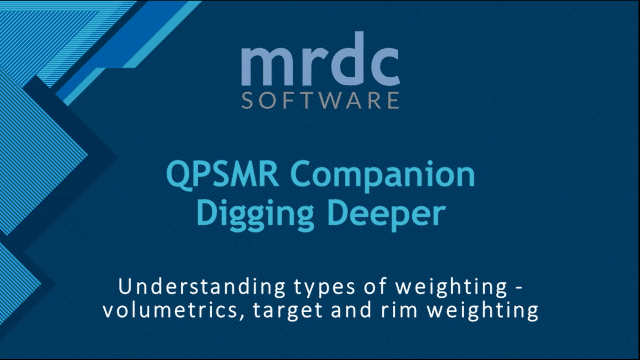 Understanding types of weighting - volumetrics, target and rim weighting