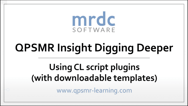 Using CL script plugins with downloadable templates