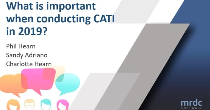 What is important about conducting CATI using QPSMR