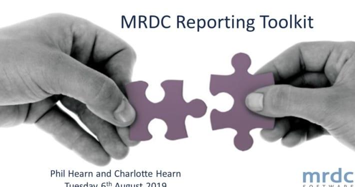 MRDC Reporting Toolkit Webinar