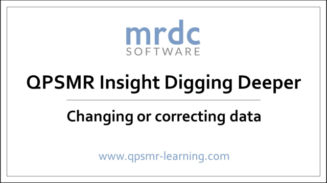 changing and correcting data